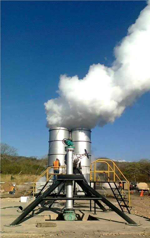 Flow Testing Geothermal Well